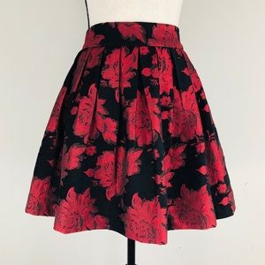 Alice + Olivia Stora Box Pleat Floral Mini Skirt
